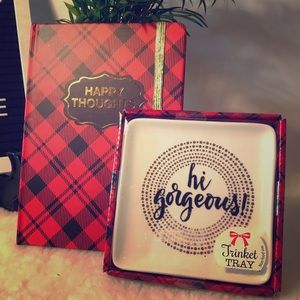 Journal and trinket tray